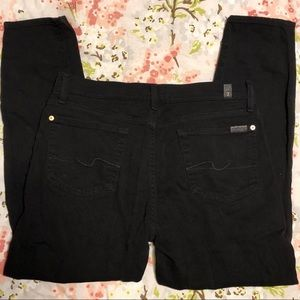 7 For All Mankind Black Ankle Pants